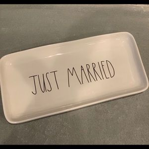 Rae Dunn Just Married Trinket Dish